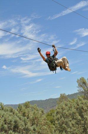 Yosemite Ziplines and Adventure Ranch : Having fun.