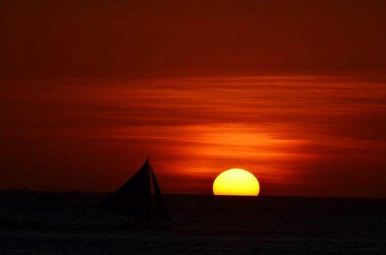 White Beach: Sunset...