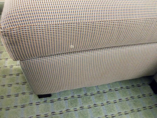 SpringHill Suites Long Island Brookhaven: White stain on sofa