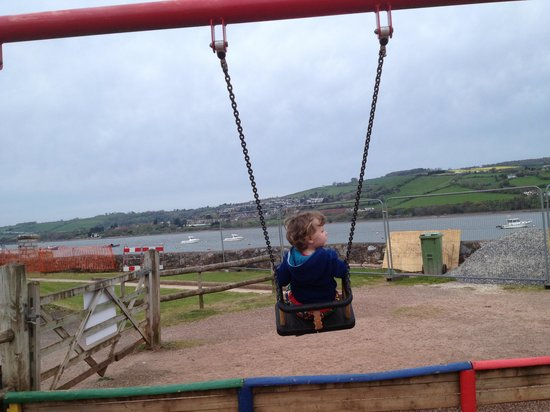 Devon Valley Holiday Village : swings with views