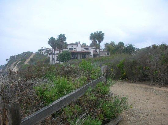 The Ritz-Carlton Bacara, Santa Barbara : View of Bacara from pathway on the grounds.