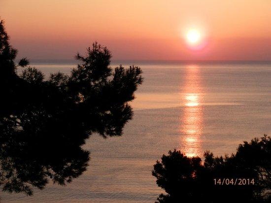 Roc Carolina: lever de soleil depuis notre chambre