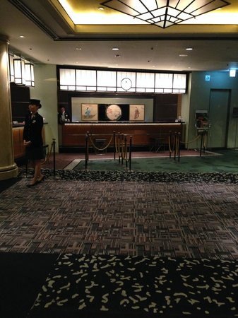 Hotel New Otani Tokyo Garden Tower: Tiny reception area.