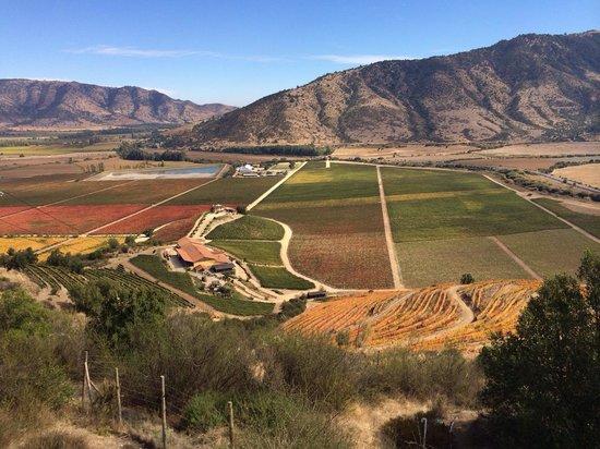 Vina Santa Cruz: La vista del valle desde el cerro Chaman