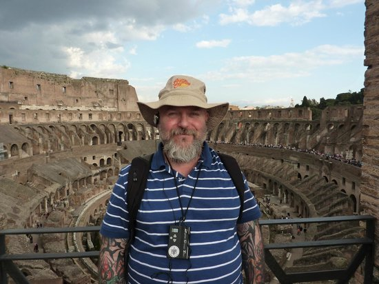 Real Rome Tours: Top level of Colosseum
