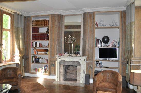 Hotel Chateau le Sallay : salle de détente