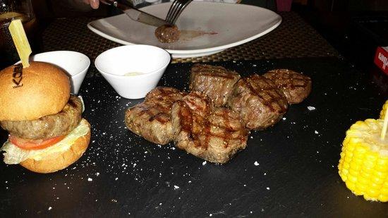 KOBE Steak Grill Sushi Restaurant Vaclavske nam.: Exquisita carne.excelente sabor.
