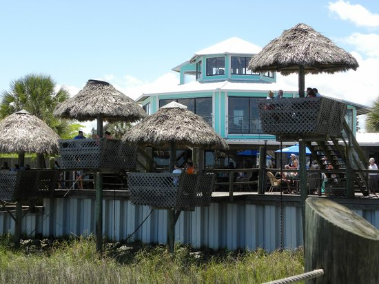 The Conch House Restaurant: View of Tiki Tables