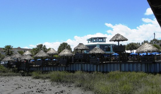 The Conch House Restaurant: View from pier