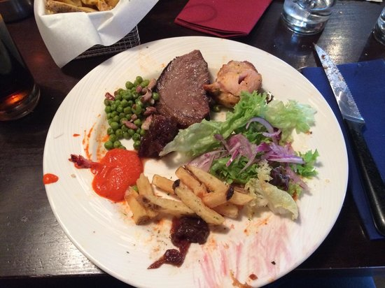 Fazenda Rodizio Bar & Grill: Just one of my plates..you can eat your weight in meat & fresh salad :-)