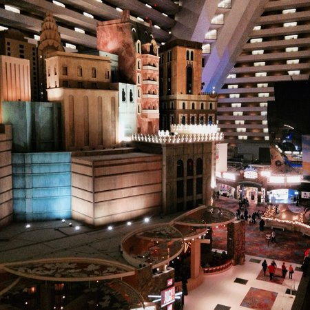 Luxor Las Vegas: inside the hotel from 4th floor