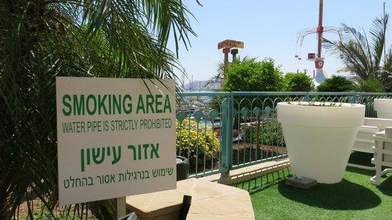 """Queen of Sheba Eilat: Kundenwünsche werden gehört: die neue """"Smoking Area"""""""