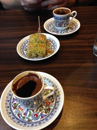 Fez Mangal: great Turkish coffee and the Baklava was gratis