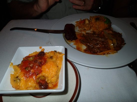 Tinajas: Chicken Pot Tamale, and the Typical Panamanian variety plate.