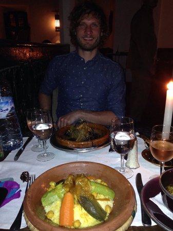 Le Foundouk: Vegetarian tagine and pretty boy