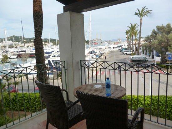 Botel Alcudiamar Hotel: Blick vom Zimmer (Suite) Richtung Hafen