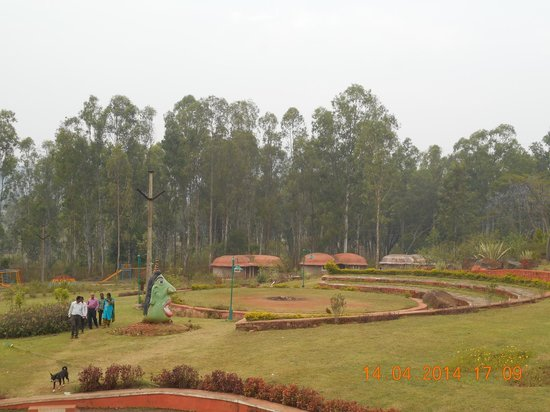 Sunset from the terrace balcony picture of haritha hill - Araku valley resorts with swimming pool ...