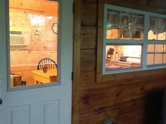 Cabins of Asheville : View from porch to door and kitchen