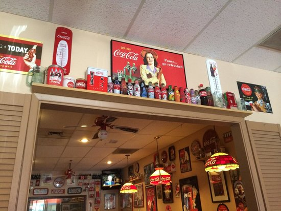 Phil's Filling Station Grill: More coca-cola...