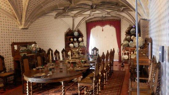 Palacio Nacional de Sintra: Comedor del Palacio do Pena. Sintra