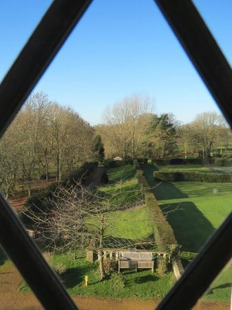 Rushton Hall Hotel and Spa: Garden view