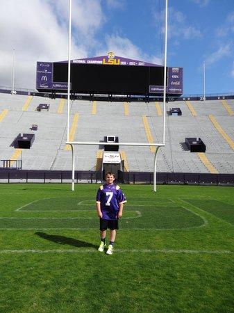 LSU Tiger Stadium : On the field