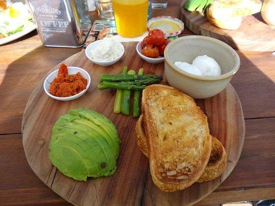 Cafe Enzo: Vego breakfast board $29.00. Inc feta & capsicum pesto.