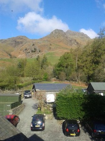 The Cumbrian Way: View from room 23, New Dungeon Ghyll Hotel