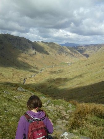 The Cumbrian Way: At the top of Stake Pass