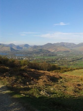 The Cumbrian Way: Looking over Derwentwater from side of Latrigg