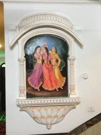 Nahargarh Haveli: Picture in the hallway
