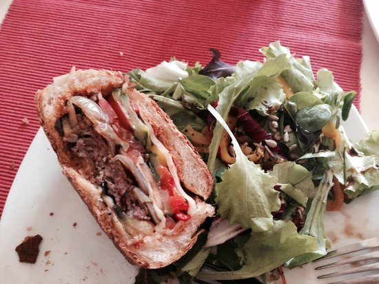 Il-Baxa Cafe Bar: Half of my Maltese sausage meat and veg roll