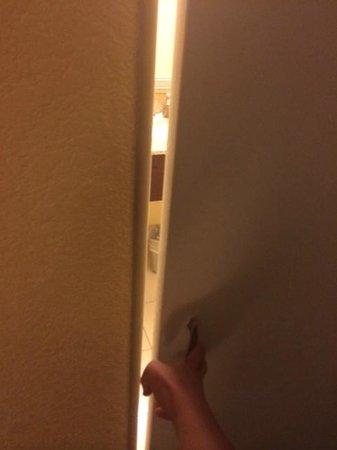 Wyndham Lake Buena Vista Disney Springs Resort Area: Bathroom door connected to the room