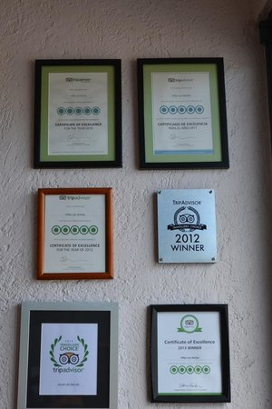 Villas Las Anclas: Trip Advisor Awards