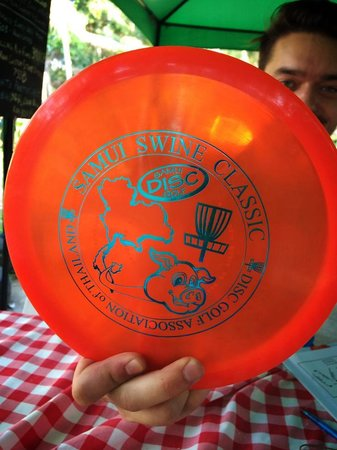 Samui Disc Golf: Custom disc, my best souvenir from this trip