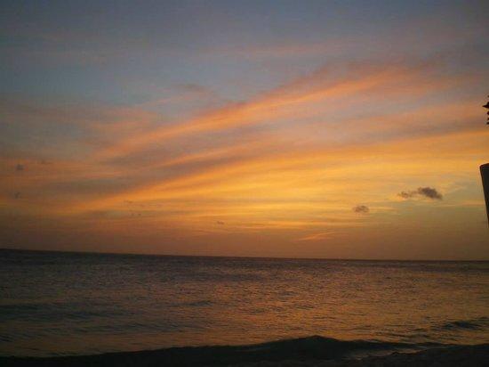 Tamarijn Aruba All Inclusive : Sunset at the pool