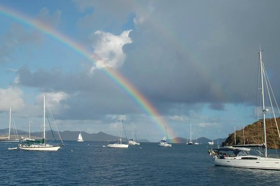 Virgin Motor Yachts: A double rainbow on our first morning ensured a wonderful week!