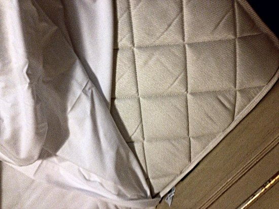 Hotel Canal : No mattress protector - a cardinal sin for any hotel
