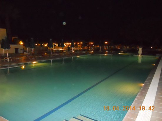 Aegean View Aqua Resort: One of the pools at night