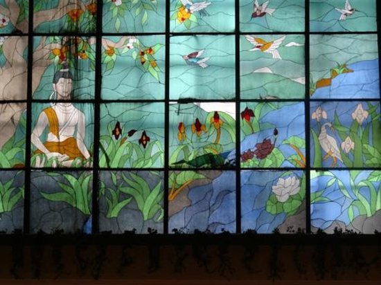 The Suryaa: stained glass
