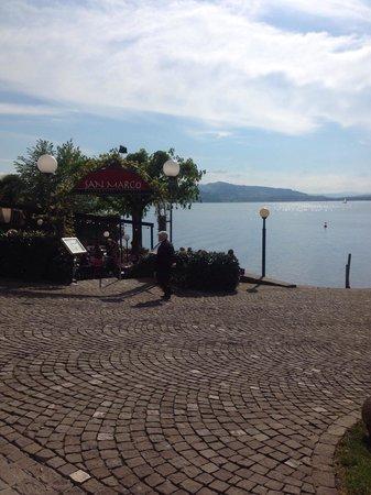 Ristorante e Pizzeria San Marco: View of the lake right by the restaurant