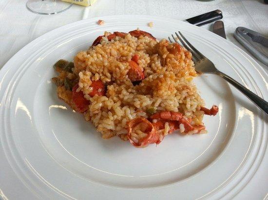 Restaurante Los Arcos : Arroz con bogavante.