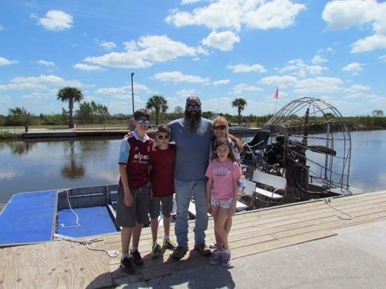 Wooten's Everglades Airboat Tour: thanks for the ride JR :)