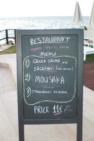 Menu Picture of Corinna Star Restaurant Chania Town TripAdvisor