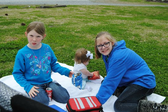 Having a little picnic at Spanish Lake.