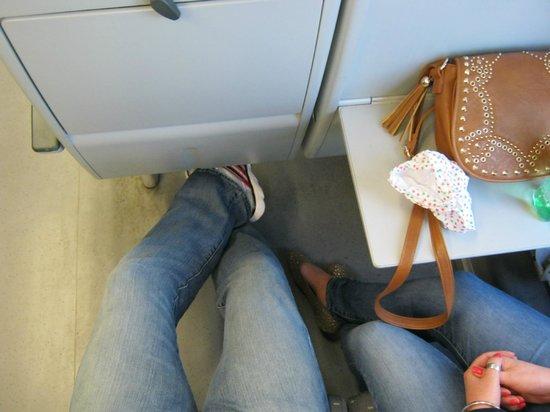 Station Brugge : MASSIVE leg room - Mr Branson take note!!