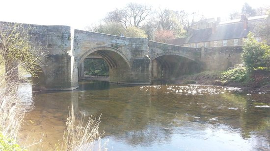bridge outside the Northumberland Arms.