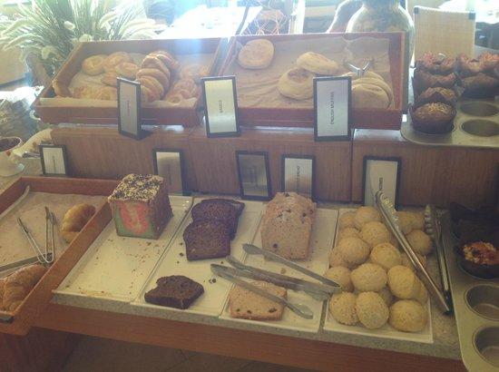 Hilton Barbados Resort: Naughty stuff!  Muffins and cake selection