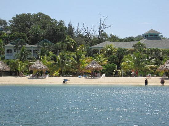 Turquoise Bay Dive & Beach Resort: Resort when returning on dive boat