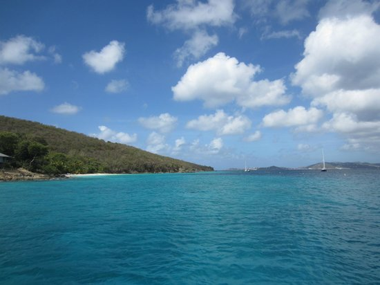Cruise Ship Excursions - Champagne Catamaran : View of the beaches in St. John